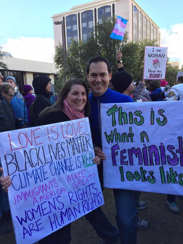 Chris and Michael At Women's March
